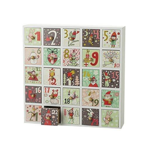 Calendario de Adviento de Navidad infantil reutilizable con cajones