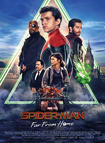 Spider Man Far from Home - Póster de cine original (53 x 40 cm), diseño de Tom Holland