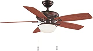 Hampton Bay Gazebo II 52 in. Indoor/Outdoor Weathered Bronze Ceiling Fan