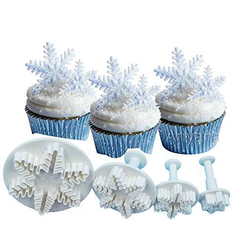 Oumosi Lot de 3 moules en Plastique - pour Fondant - Moules à Biscuits - Décoration de Noël - en Forme d'arbre de Noël