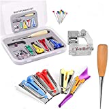 Single/Double Fold Bias Tape MakerFabric Bias Tape Maker Tools, Patchwork Sewing Accessories for Sewing Quilting Awl and Binder Foot w/Case Tape Binding Presser Foot Quilting Awl Ball Pins