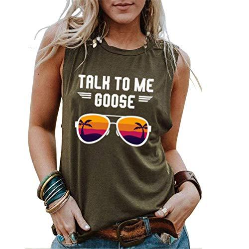 NOBRAND Talk to Me Goose - Gafas de sol con estampado de letras de ganso para mujer