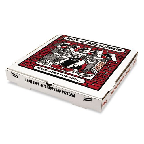 Box PZCORB16 Pizza Takeout Containers44; White - 16 in.