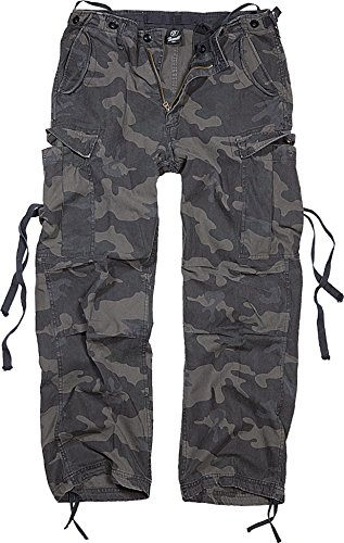 Brandit M65 Trouser Pantalón de Vestir, Darkcamo, L para Hombre
