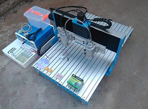 Gowe Doppel Spindel Mini CNC Router Mini CNC-Fräsmaschine mit linearer Führungsschiene CNC Gravieren Maschine