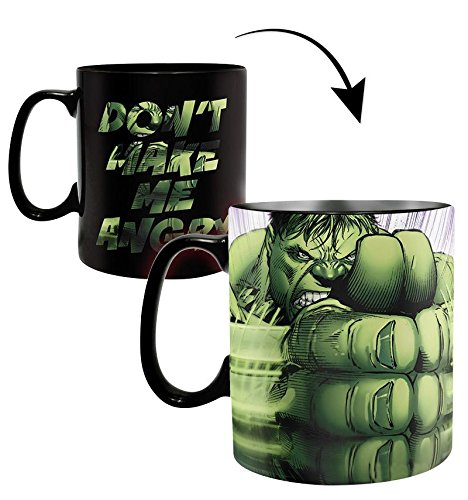 Close Up Marvel XL Thermoeffekt- Tasse Hulk