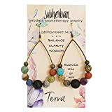 Subherban Essential Oil Earrings - TERRA Aromatherapy Jewelry for Women for Anxiety Stress Relief - Handmade Diffuser Lava Stone - Handmade Jewelry - Gifts for Women
