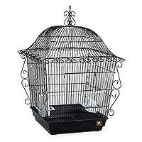 バードケージバードネストバードキャリア ヨーロピアンスタイルのレトロな鳥かごアウトドアバードケージの高級グレーオウムペットの鳥メタルケージ 鳥の旅行ケージ