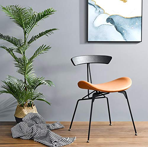 WTDlove Stylish Dining Chairs Upholstered Living Room Armchair Side Chair With Steel Metal Base Modern Accent Makeup Chairs For Kitchen Dining Living Room(Color:orange)