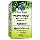 Whole Earth & Sea from Natural Factors, Women's 50+ Multivitamin & Mineral, Vegan, 120 Tablets (60...