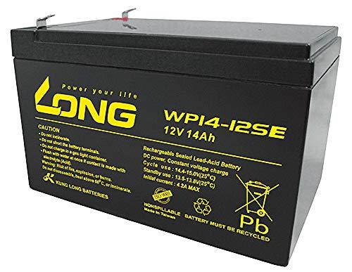 Kung Long Akku 12V 14Ah Pb Batterie Bleigel WP14-12SE zyklenfest kompatibel 12Ah 13Ah 15Ah 16Ah Bleiakku AGM