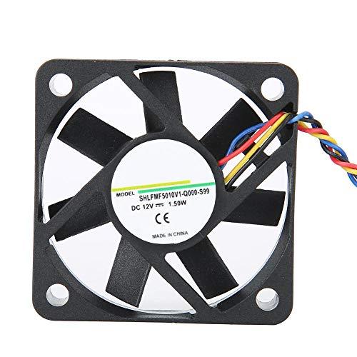 Ventilador de enfriamiento de 5CM 12V 1.50W, sistema de enfriamiento silencioso a través de moldeo por inyección de un disparo Ventilador de disipador de calor de 4 pines, enfriador de CPU para 3800 R