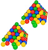 Knorrtoys 56781 - 200 Bälle in knalligem Blau, Rot, Gelb und Grün ohne gefährliche Weichmacher Ø ca. 6 cm - TÜV Zertifiziert -