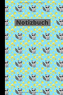 Notizbuch: German Notebook : Raccoon Seamless Pattern Journal Lined Pages (German Edition)