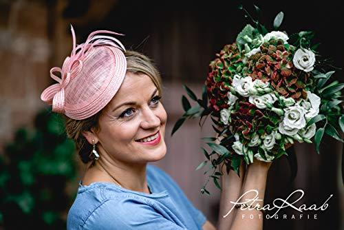 M60 Fascinator Headpieces mini Hütchen Royal hat Hut Ballhut Victoria Derby Kentucky Derby couture Millinery Hochzeit