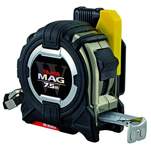 Tajima SFG3GLWM25-75E W mag (Cinta métrica) – 7,5 m/25 mm con rieles Gancho Final magnético Soporte de cinturón de Seguridad, Wmag, 7,5m / 25mm