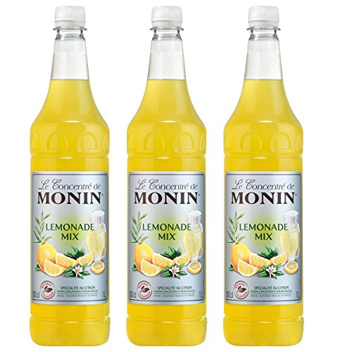 Monin Lemonade Mix Konzentrat, 1,0L PET 3er Pack