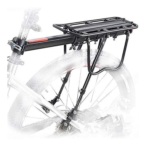 JYSLI Fitting Bike Rack Aluminum Alloy 50KG Luggage Rear Carrier Trunk for Bicycles MTB Bike Rear Shelf Cycling Bicycle Racks sturdy (Color : Black)
