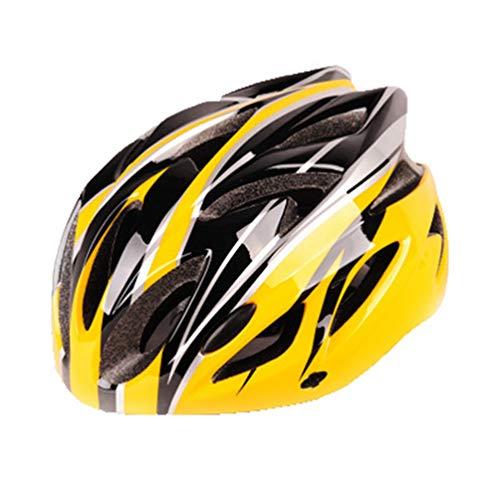 Angyu Durable Alta Resistencia Casco Bicicleta Adulto MTB Casco Visera Extraíble Casco Bicicleta Ajustable para Hombres Mujeres Bicicleta Adultos para Montar (Estilo 13,(54-63) cm)