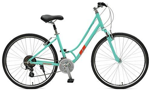 Retrospec Bicycles Motley Hybrid Bike 21 Speed, Viridian, 14'/X-Small