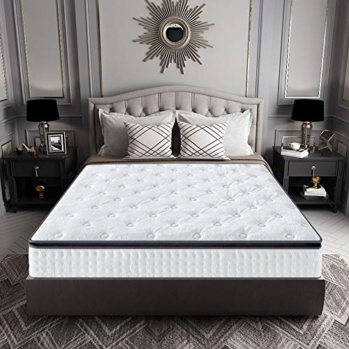 PLOLLD 9 Pulgadas Exclusivo Hotel Colchón, látex Natural y Individualmente Encased Primavera Bobinas futón colchón (Size : Twin-100×200cm)