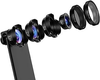 L.J.JZDY telefonlins mobiltelefon vidvinkel lins fisheye macro telefoto sex i ett set monterad SLR universal extern kamera...