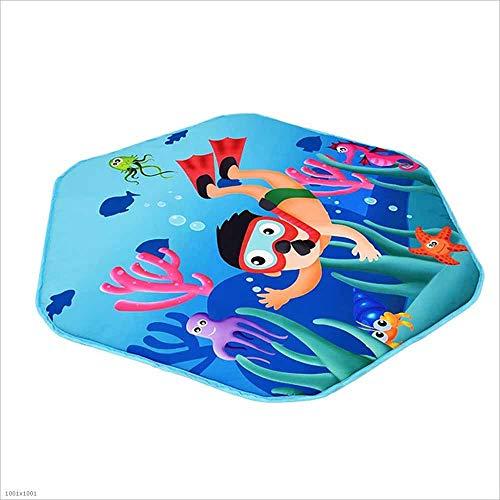 SZ JIAOJIAO Jeux pour Enfants barrière de sécurité portative pour bébé barrière Anti-Renversement adapté pour Les Nourrissons/Bambins/Rampe sûre,Mat
