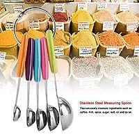 ステンレス鋼計量スプーン、金属スプーンセット、実用的な掃除が簡単、多機能、計量スプーン、家庭用ベーキングキッチン