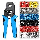 Pelacables de 0.08-10mm Tubular Crimping Alicates Herramientas Set 1200pcs Terminal Crimping Tools Mini Alicates Eléctricos Pinzas de Precisión Set de Pinzas de Pinzas y 1200pcs
