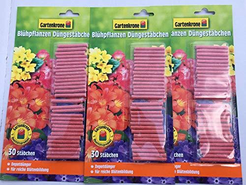 Gartenkrone 3 x 30er Düngestäbchen für Blühpflanzen