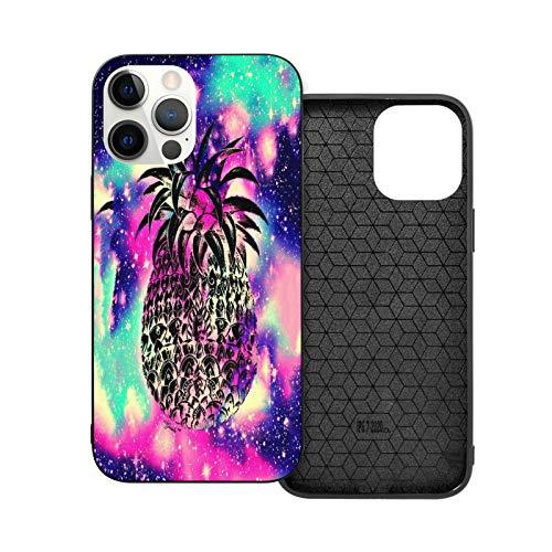 Compatible con iPhone 12 Mini 5.4 pulgadas, Galaxy Piña Girly suave, antideslizante a prueba de golpes