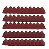Ponçage Pads Triangle Oscillant Feuilles 80mm Ponçage Oscillant outil Sandsheet 60/80/120/180/240 Grits 50PCS mécanique Produit
