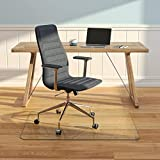 "Vitrazza Rectangle Glass Office Chair Mat – 36"" x 48"" Desk Mat with Ultra-Clear Safety Glass/Creates Smooth, Easy..."
