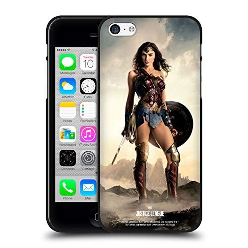 Head Case Designs Ufficiale Justice League Movie Wonder Woman Personaggi De Poster Cover Nera in Morbido Gel Compatibile con Apple iPhone 5 / iPhone 5s / iPhone SE 2016