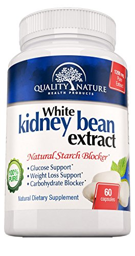 White Kidney Bean Extract - 1200mg Pure Extract for Weight Loss - 100% Natural Powerful Carb Blocker - Best Premium Quality Ingredients - Guarantee by Quality Nature.
