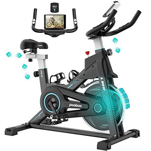 pooboo Magnetic Exercise Bike Indoor Cycling Bike Stationary, Adjustable Seat & Handlebar, Stationary bike with LCD…