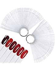 XINTON 100pcs Uñas Falsa Muestras Mostrador de Esmaltes de Uñas Expositor Esmaltes de Uñas Exhibidor de Uñas Postizas para Pintar Uñas Practicas Arte de Uñas Tips (transparente)