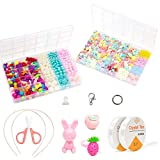 Pop Beads Kit de fabricación de joyas para niños, niñas, niños, Snap Beads Set DIY Make Hairband, collares, pulseras, anillos Creatividad Juguetes (1130 piezas de abalorios pop)