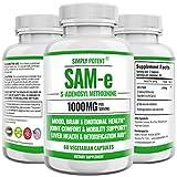 SAM-e Supplement, 500mg SAM e 60 Capsules,...