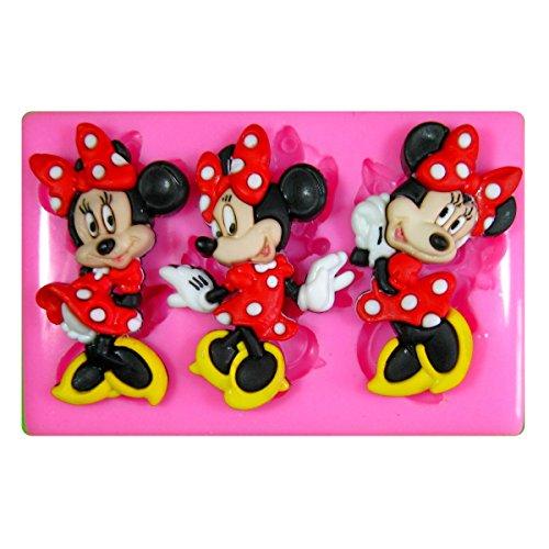 Minnie Maus Silikon Form für Kuchen Dekorieren, Kuchen, kleiner Kuchen Toppers, Zuckerglasur Sugarcraft Werkzeug durch Fairie Blessings