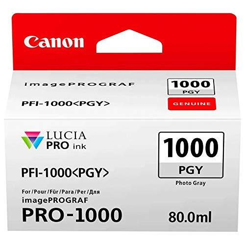 Canon Tintenpatrone PFI-1000 PGY Fotograu grey 80 ml ORIGINAL für imagePROGRAF PRO-1000