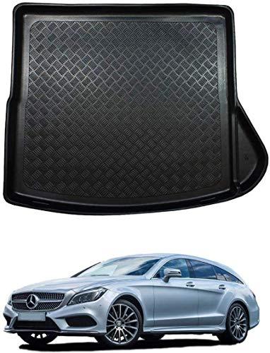 QWEAS Kofferraum Schalenmatte Für Mercedes CLA Shooting Brake 2015-2019 Anti-Rutsch Hintere Kofferraummatte Kratzfest Auto Kofferraumschutz Matte Waschbar Robust