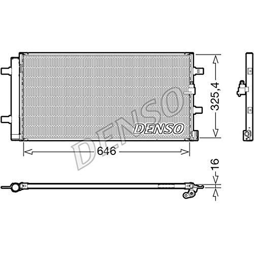 DENSO DCN02041 - Condensatore, impianto di climatizzazione, condensatore, refrigeratore