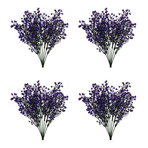 Zeayebsr 4pcs Flores Artificiales Decoracion Jarrones,Falsa Planta Artificial Exterior Interior con...