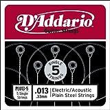 D'Addario PL013-5 - Juego de cuerdas para guitarra acústica de acero en Mi