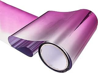 ATMOMO Pink Gradual Color Front Windshield Tint Tirm Sun Strip Pre-Cut Tint 7.8 Inch x 59 Inch