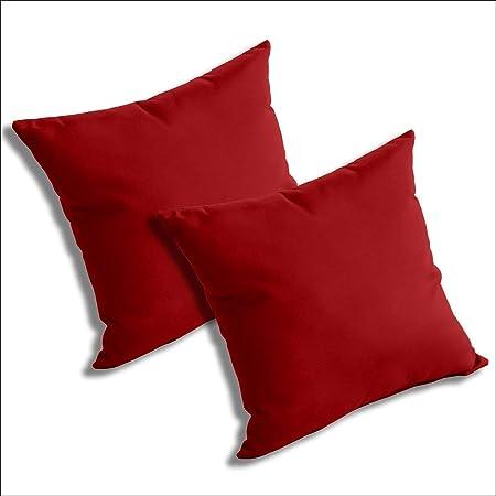 Comfort Classics Inc Set Of 2 Sunbrella Outdoor Indoor Throw Pillows Jockey Red Home Kitchen