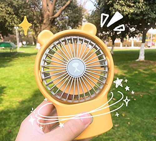 longsheng Mini ventilador portátil de mano, de dos velocidades de ajuste de viento mini ventilador de escritorio, utilizado para la oficina en casa interior y exterior travel_1pc _Yellow