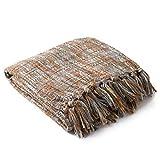 Artistic Weavers Sylvia Throw Blanket 50 by 60-Inch, Rust