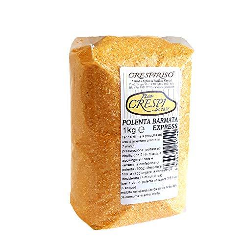 Polenta bramata express ISTANTANEA 1kg crespiriso (farina di mais granoturco express istantanea grossa)